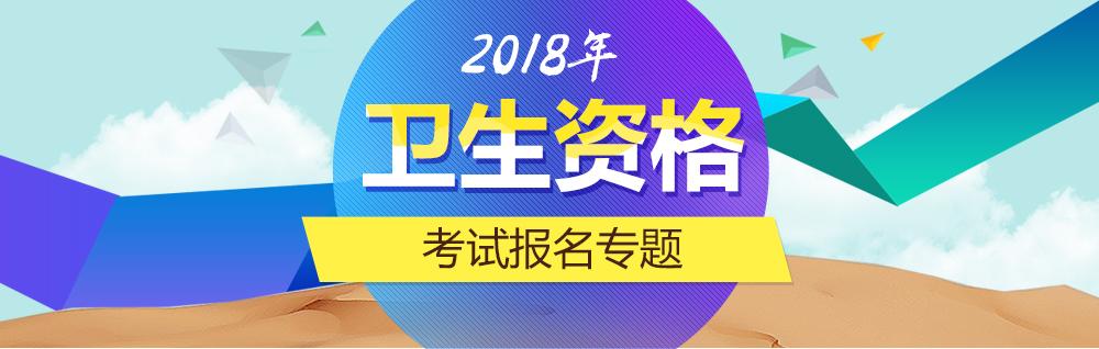 2018年卫生资格考试报名入口
