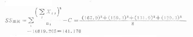 方差分析公式