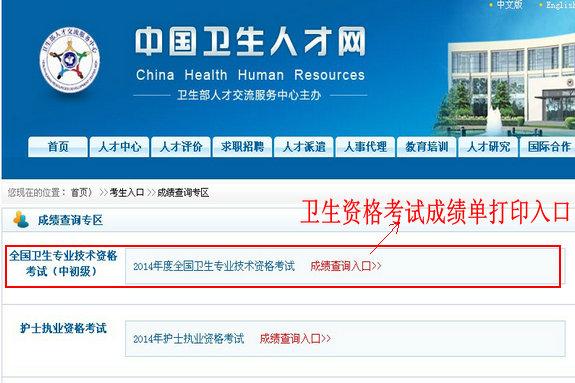 中医内科主治医师考试成绩单打印入口