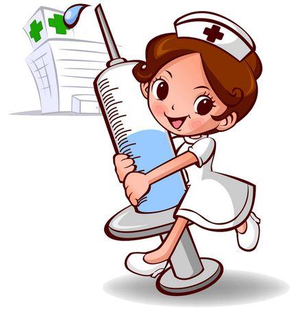 护士与病人 卡通图