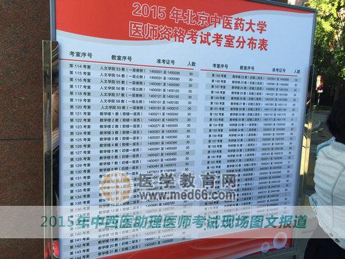 2015中西医助理医师考试9月12日顺利开始