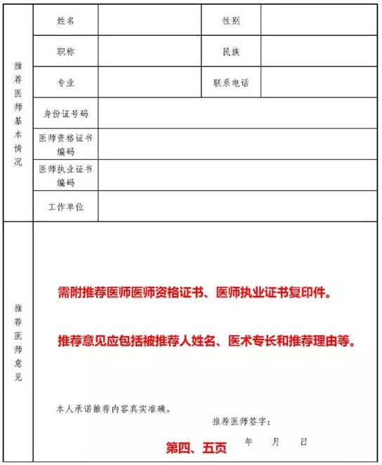 中医医术确有专长人员医师资格考核申请表、结论表式样填写说明