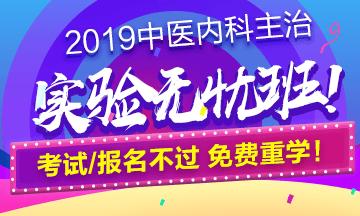 2019中医内科主治实验无忧班!