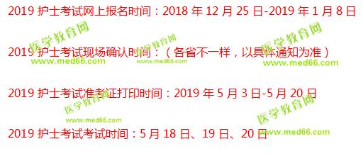 陕西2019护士资格证考试报名时间:12月25日-1月8日