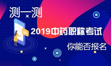 2019中药学职称考试报名测评系统