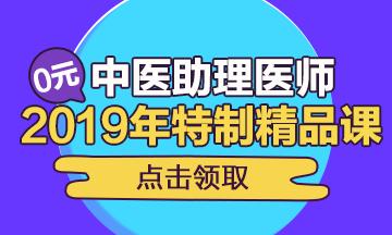 2019年中医执业医师双师取证班