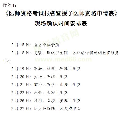清新区2019年医师资格考试报名