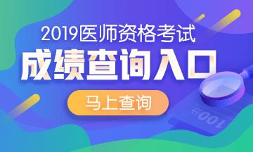 2019乡村全科助理医师成绩查询