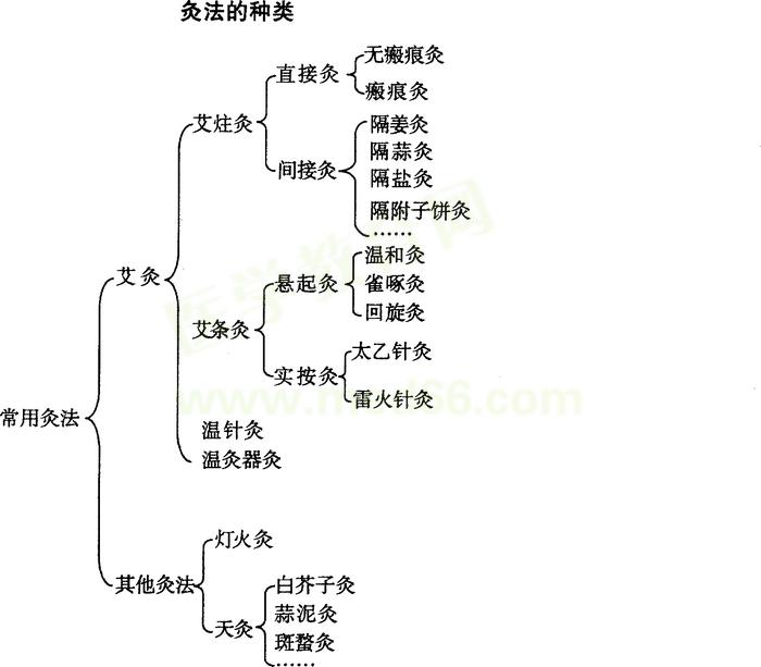 中医助理医师操作考试内容:常用灸法分类