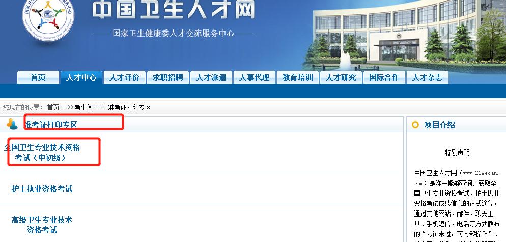 北京2020年药士\药师\主管药师考试准考证打印入口