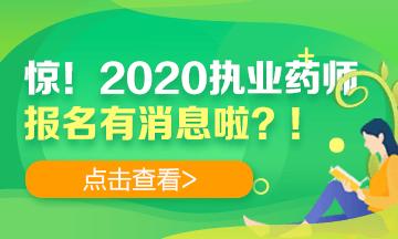 【药师】2020执业药师金沙国际官网登录报名时间|资料|流程都定了?