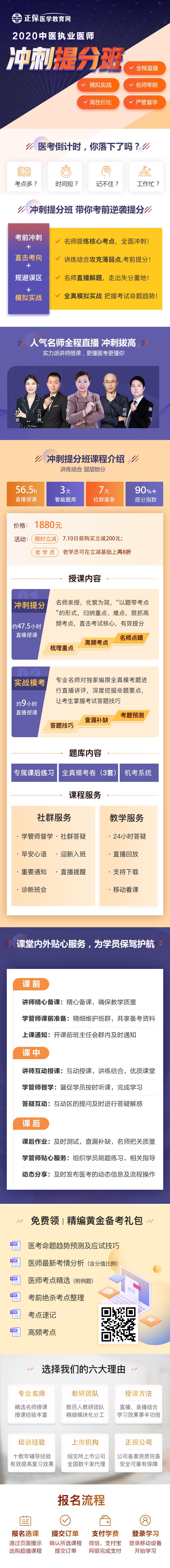 医学教育网中医执业医师综合笔试冲刺提分班课程详情