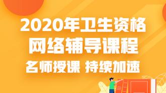 2020年衛生資格網絡輔導課程