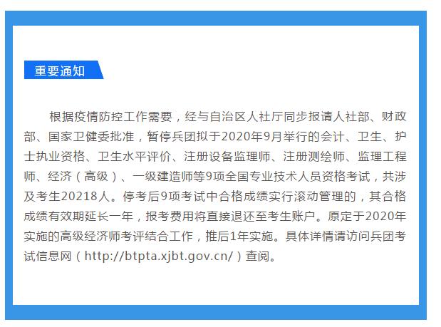 通知!北京2020年药士\药师\主管药师考试取消了!