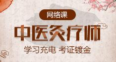 中医灸疗师岗位能力网络培训课程!
