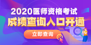 2020年乡村全科助理医师成绩查询