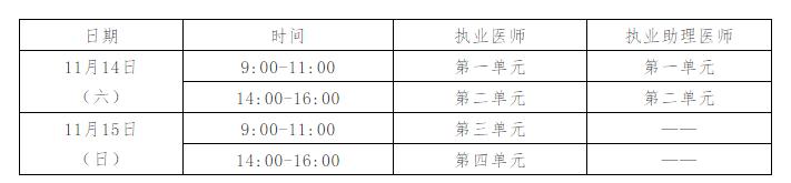 松原市宁江区2020年临床执业助理医师二试考试准考证打印时间