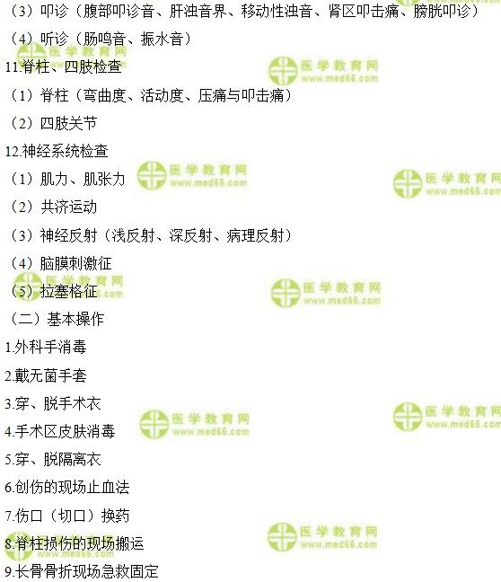 國家2021年中醫執業醫師實踐技能考試大綱細則(PDF)