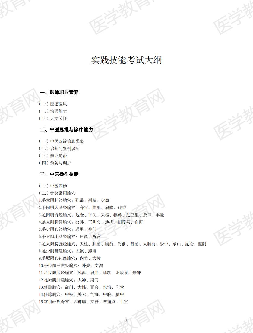 中西医执业医师考试大纲2020版_04