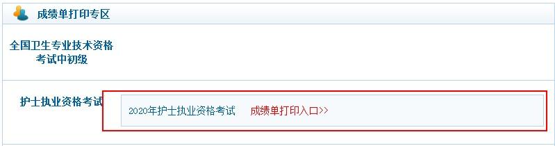 中国卫生人才网2020主管护师考试成绩单打印入口正式开通!