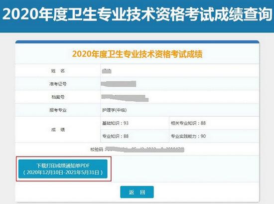 中国卫生人才网2020初级护师考试成绩单打印入口正式开通!