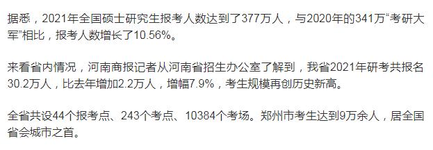 河南省考研考人数