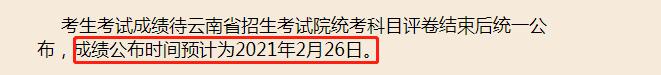 云南省21初试成绩查询时间
