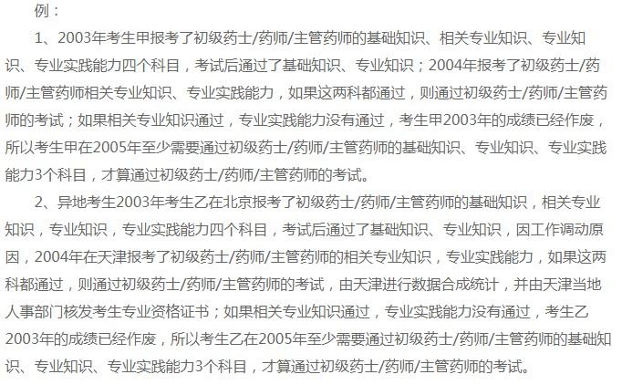 杭州初级药师考试成绩是如何滚动的?