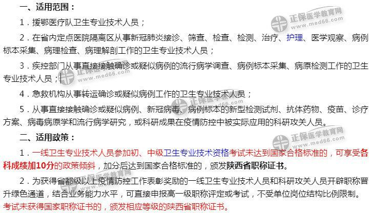 陕西省新冠疫情一线考生2020初级护师省级证书名单确认