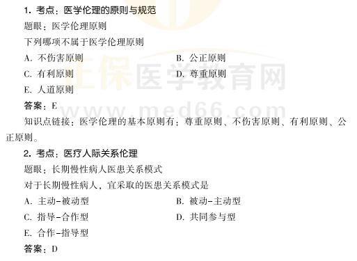 2021年公卫执业/助理医师考试备考:【医学伦理学】科目知识点速记1-3