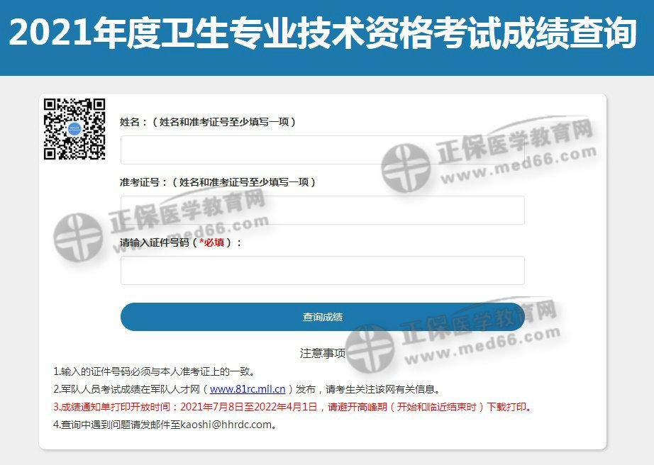 【成绩查询入口】中国卫生人才网2021初级护师考试成绩查询入口开通!