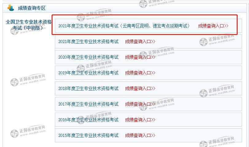 速度去查!云南德宏州2021检验职称考试成绩查询入口已开通!