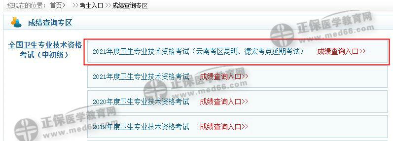 【官方】云南德宏州2021主管护师考试成绩查询入口7月9日开通!