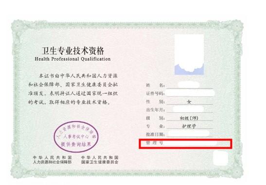 护师电子证书查询系统中的管理号在哪获取?